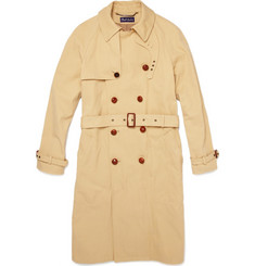 Ralph Lauren Purple Label Double-Breasted Twill Trench Coat