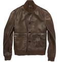 Ralph Lauren Purple Label Leather Bomber Jacket
