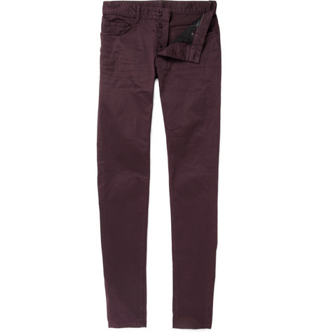 Balenciaga Skinny Fit Cotton-Blend Trousers