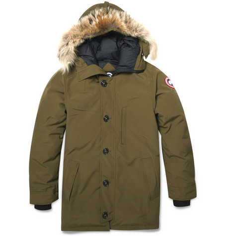 Chateau Coyote-Trim Parka Jacket