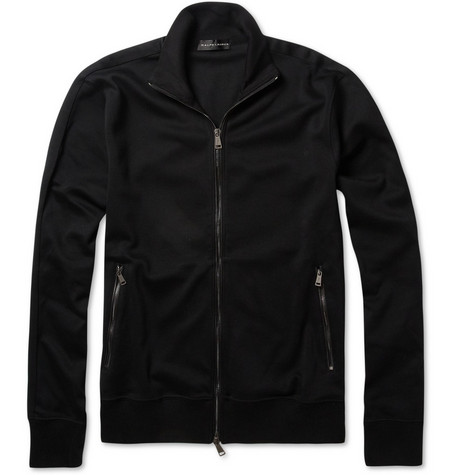 Ralph Lauren Black Label Cotton-Jersey Tracksuit Top