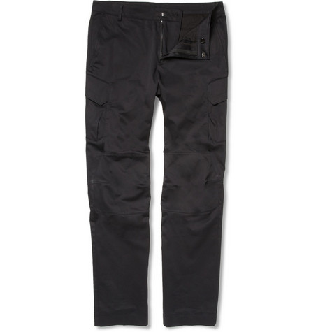 Ralph Lauren Black Label Stealth Cotton-Blend Cargo Trousers