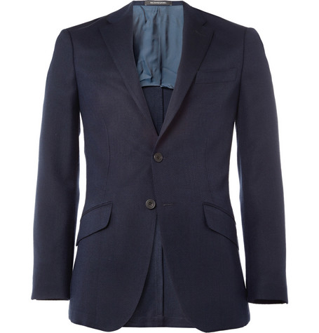 Richard James Unlined Textured Slim-Fit Wool Blazer
