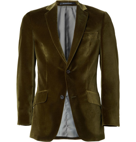 Richard James Slim-Fit Velvet Blazer