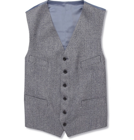Richard James Prince of Wales Check Wool Waistcoat