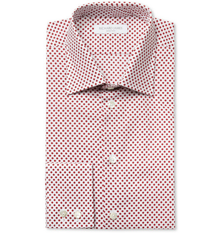Richard James Polka Dot-Print Cotton Shirt