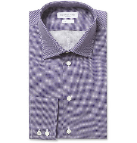 Richard James Slim-Fit Pin Dot Cotton Shirt