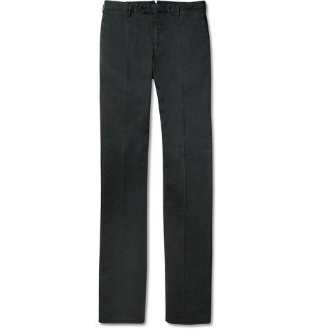 Slowear Incotex Straight-Leg Brushed Cotton-Blend Twill Trousers