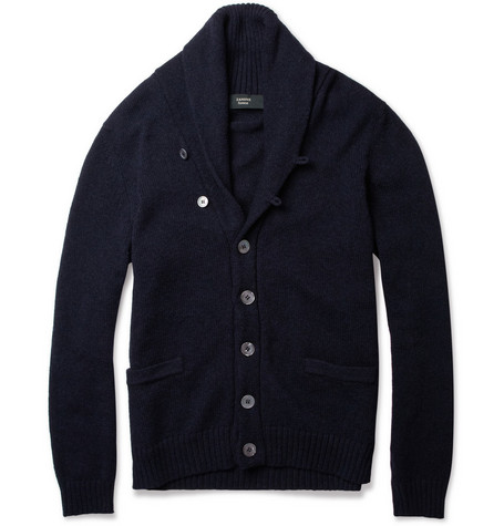 Slowear Zanone Shawl-Collar Wool-Blend Cardigan