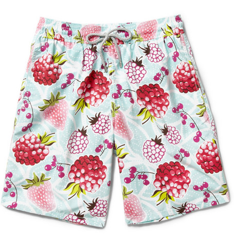 Vilebrequin Okoa Long-Length Fruit-Print Swim Shorts