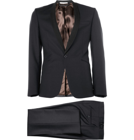 Spencer Hart Navy Shawl-Collar Wool Tuxedo
