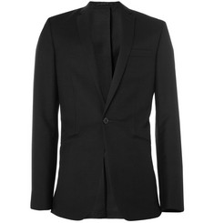 Spencer Hart Partially Lined Textured-Wool Blazer