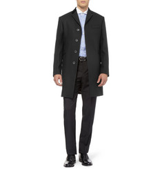 Spencer Hart Velvet-Collar Wool Overcoat