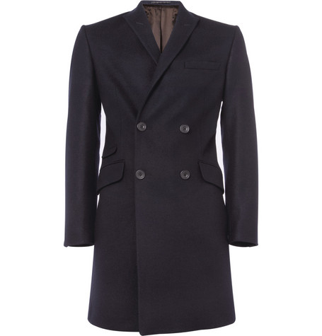 Spencer Hart Double-Breasted Slim-Fit Wool Coat