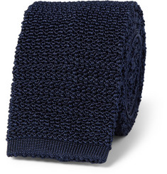Drake's Slim Knitted Silk Tie