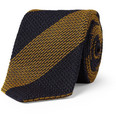 Drake's - Striped Woven Silk-Blend Tie