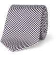 Drake's - Slim Gingham Check Silk Tie