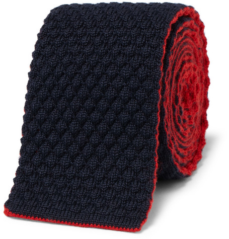 Drake's Reversible Knitted Wool Tie