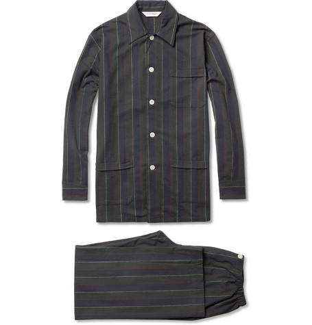 Derek Rose Striped Cotton Pyjamas