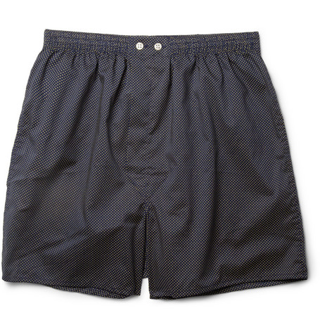 Derek Rose Dotted Cotton Boxer Shorts