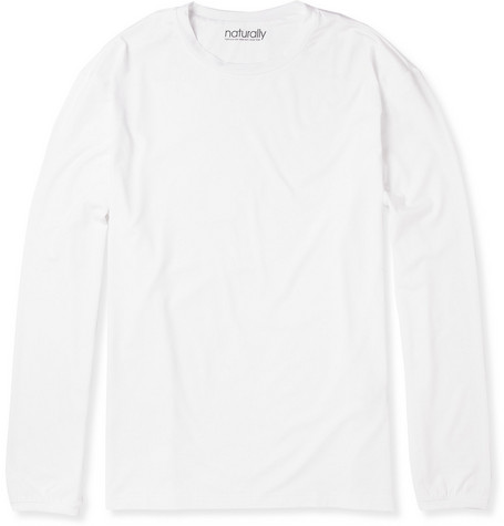 Naturally from Derek Rose Long-Sleeved Stretch-Micromodal T-Shirt