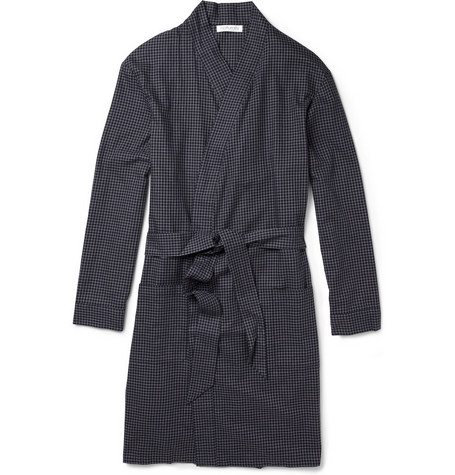 Naturally from Derek Rose Check Cotton Dressing Gown