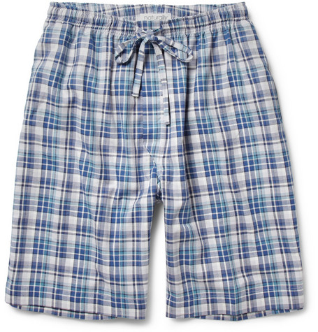 Naturally from Derek Rose Plaid Cotton Lounge Shorts