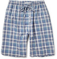 Naturally from Derek Rose - Plaid Cotton Lounge Shorts