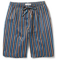 Naturally from Derek Rose - Striped Cotton Lounge Shorts