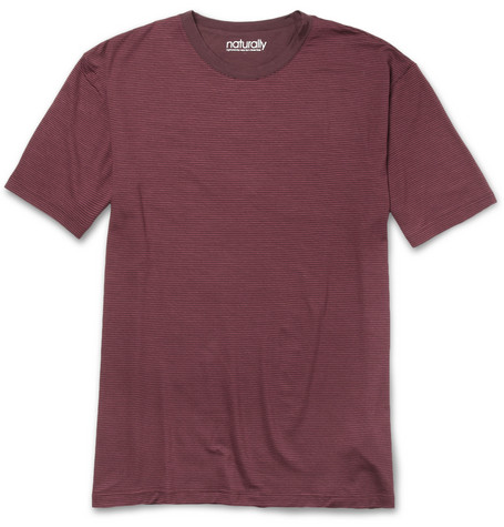 Naturally from Derek Rose Striped Stretch-Micromodal T-Shirt