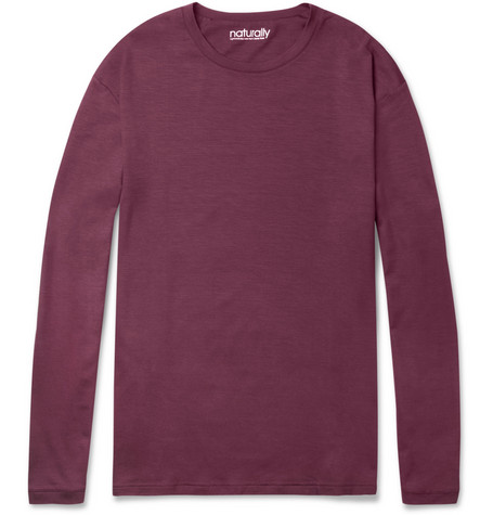 Naturally from Derek Rose Stretch-Micromodal Long-Sleeved T-Shirt