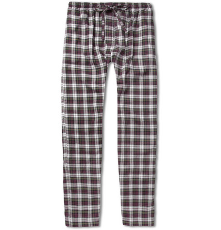 Naturally from Derek Rose Check Cotton Lounge Trousers