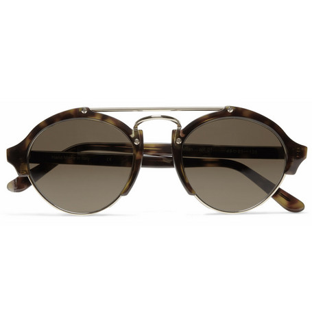 Illesteva Milan Acetate and Metal Round-Frame Sunglasses