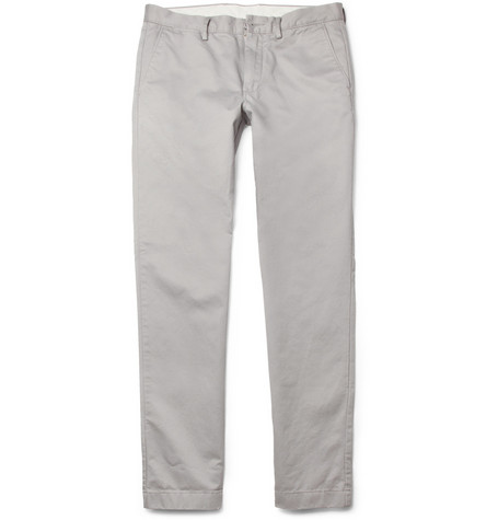 J.Crew Slim Brushed-Cotton Trousers