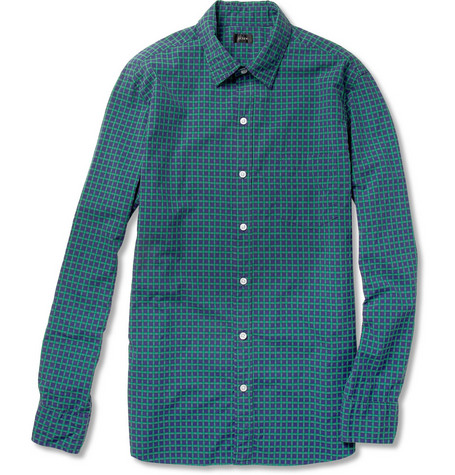 J.Crew Harrison Tartan Checked Cotton Shirt