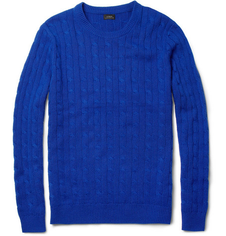 J.Crew Cable-Knit Cashmere Sweater