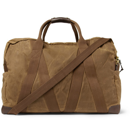 J.Crew Abingdon Waxed Cotton-Canvas and Leather Holdall