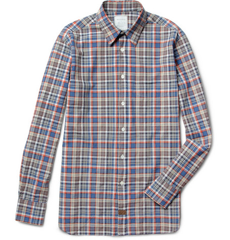 Billy Reid Lindsey Plaid Cotton Shirt