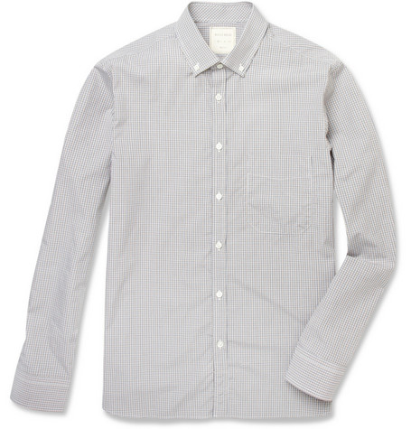 Billy Reid Rosedale Button-Down Collar Check Cotton Shirt