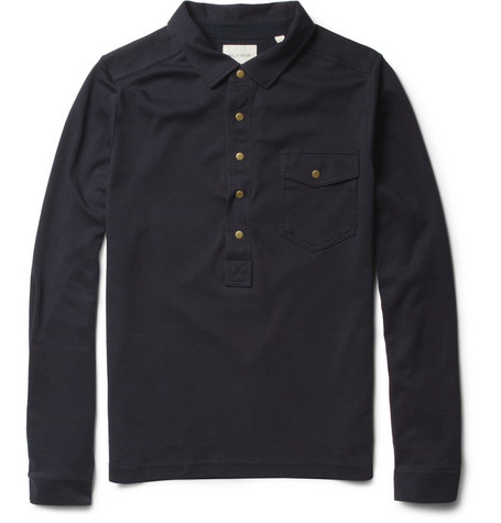 Billy Reid Cotton-Jersey Polo Shirt