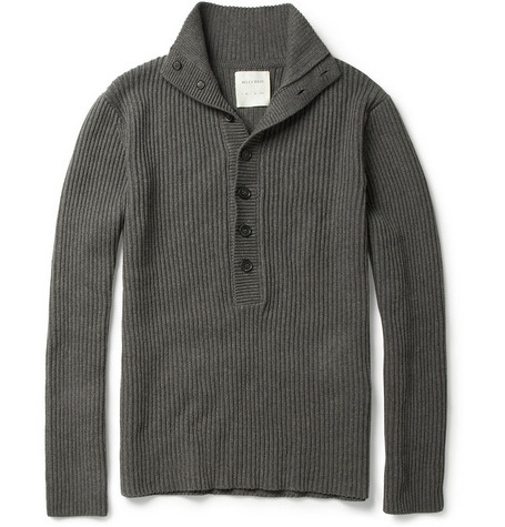 Billy Reid Henley Knitted Cotton Sweater