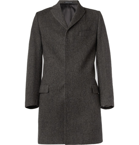 Paul Smith London Epsom Herringbone Tweed Coat