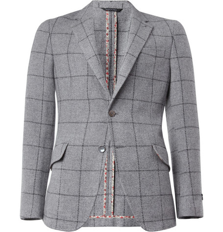 Paul Smith London Abbey Slim-Fit Check Wool Blazer