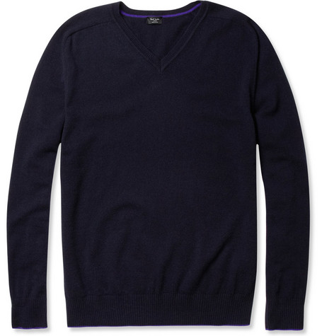 Paul Smith London Cashmere V-Neck Sweater