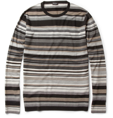 Paul Smith London Striped Merino Wool Sweater