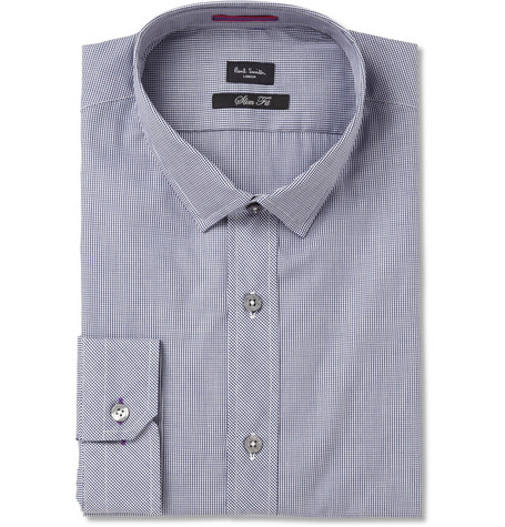 Paul Smith London Micro-Gingham Check Cotton Shirt