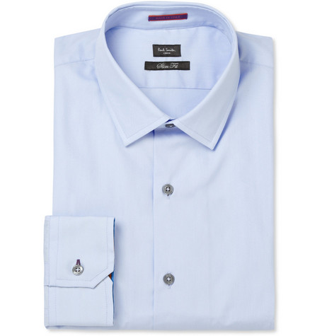 Paul Smith London Blue Cotton Shirt
