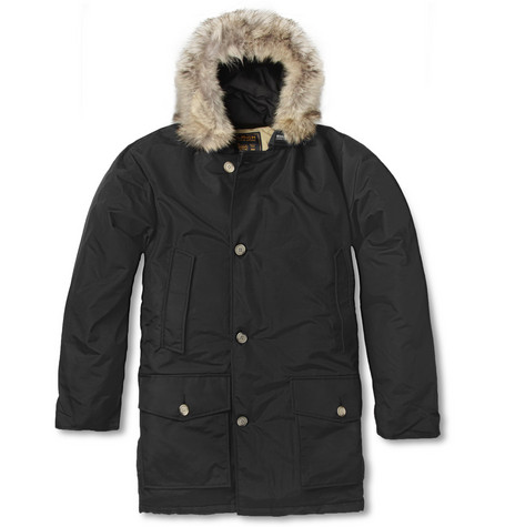 Woolrich Arctic Parka Coyote-Trimmed Down-Filled Coat