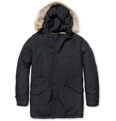 Woolrich Polar Coyote-Trimmed Down-Filled Parka Jacket
