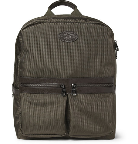 Mulberry Henry Woven-Nylon and Textured-Leather Backpack